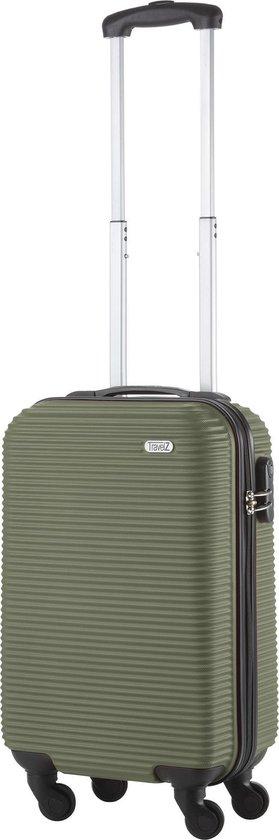TravelZ Horizon Handbagagekoffer - 54cm Handbagage Trolley met gevoerde binnenkant - Groen