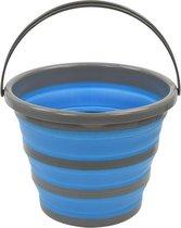 Proplus Opvouwbare Emmer Siliconen/kunststof 10 Liter Blauw