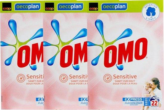 OMO Waspoeder Sensitive - 3 x 1,54KG (66 wasbeurten) - Voordeelverpakking