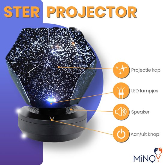 MINQY LED Kosmos Sterrenlamp - Baby Projector