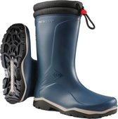 Dunlop Laarzen - Rubber Laarzen Heren - Gevoerde Laarzen - Werk Laarzen - Blauw - Maat 45