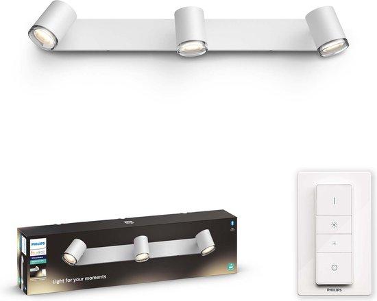 Philips Hue Adore badkameropbouwspot - warm tot koelwit licht - 3-lichts - wit - balk