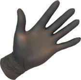100 st. wegwerp handschoenen - Nitrile - Zwart - Non-sterile en poedervrij Large