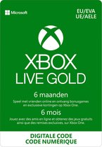 Microsoft Xbox Live Gold - 6 Maanden abonnement - Xbox 360, Xbox One, Xbox Series X & S