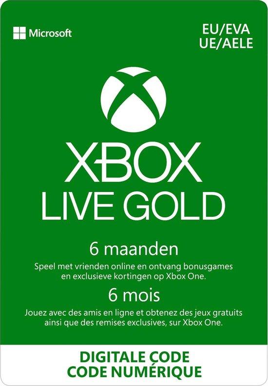 Microsoft Xbox Live Gold - 6 Maanden abonnement - Xbox 360 + Xbox One