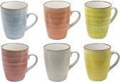Sparkling koffiemokken (6 stuks) | Aardewerk | 6 kleuren Set