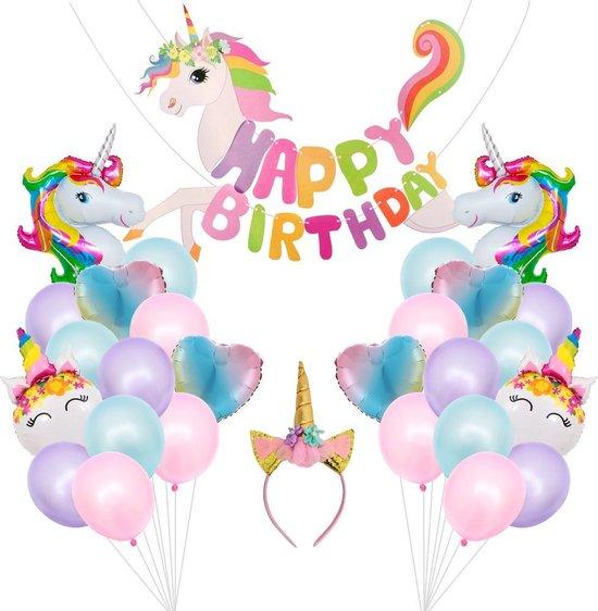 Eenhoorn Versiering - Eenhoorn Surprise - Eenhoorn Verjaardag - Eenhoorn Ballonnen - Unicorn - 30 stuks