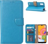 Samsung Galaxy A01 - Bookcase Turquoise - portemonee hoesje