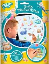 Auto raamstickers oceaan/onder water thema 50 stuks - in de auto op reis voor kinderen autoraam plakstickers