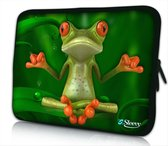 Sleevy 14 laptophoes mediterende kikker - laptop sleeve - laptopcover - Collectie 250+ designs