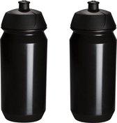 2 x Tacx Shiva Bidon - 500 ml - Zwart - Drinkbus