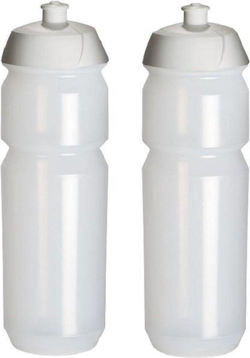 2 x Tacx Shiva Bidon - 750 ml - Transparant  Drinkbus
