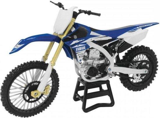 Afbeelding van New Ray Yamaha YZ450F Replica Mini Crossmotor 1/12 Schaalmodel speelgoed
