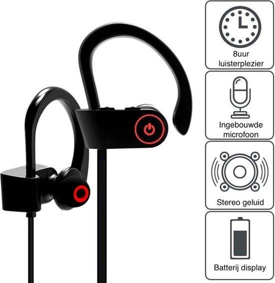 MANI Bluetooth Oordopjes Draadloos - In ear oortjes handig voor Hardlopen en Sport- Zwart/Zwart