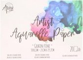 Aquarel Papier - A4 Formaat 21x29,7cm - blok 20 vel