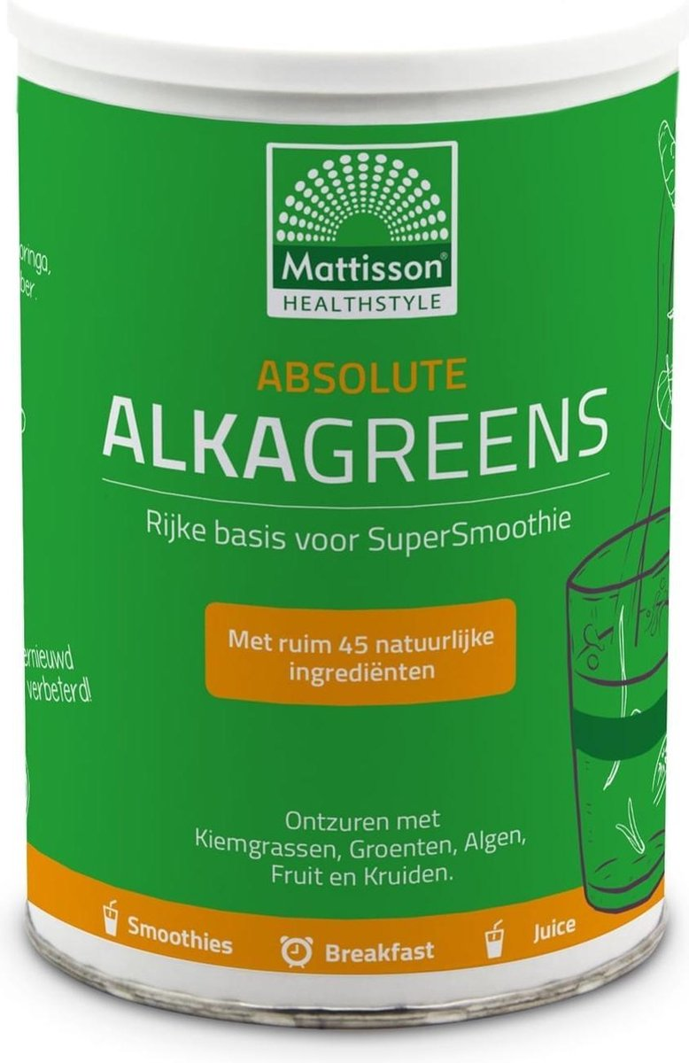 Mattisson / Alkagreens Supersmoothie Poeder Absolute   300 gram