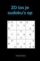 ZO los je sudoku's op