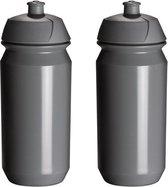 2 x Tacx Shiva Bidon - 500 ml - Grijs - Drinkbus