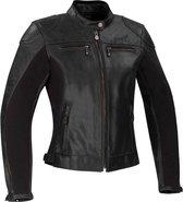 Segura Kroft Lady Black Leather Motorcycle Jacket T4