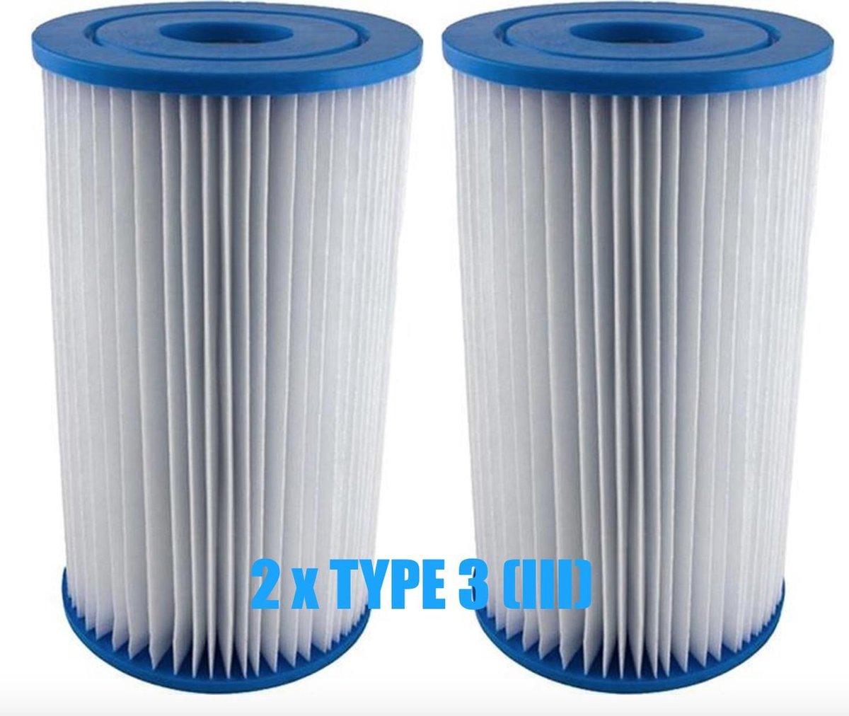 Filter type 3 - Filterpatroon Type III Bestway - Zwembad Filter - Filterpomp - 2 STUKS