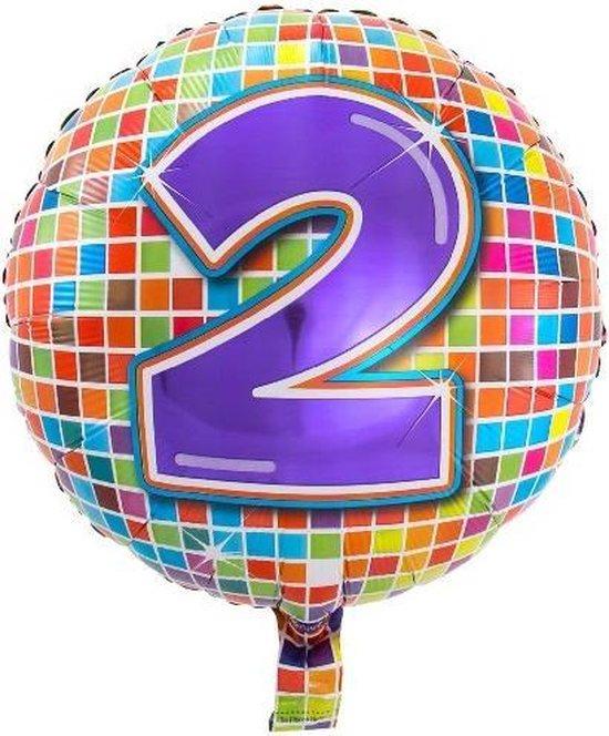Folieballon 2 JAAR Birthday blocks 43 cm
