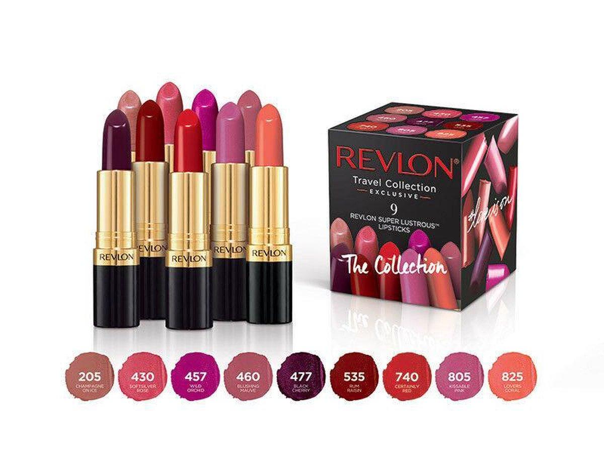 Revlon Super Lustrous Lip Cube - Travel Collection (9 Lipsticks) - Revlon