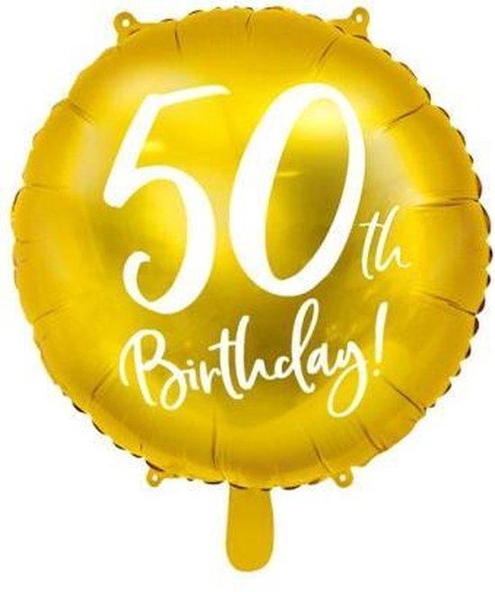 Folieballon 50 Jaar – 50 Jaar Versiering – Goud