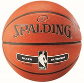 Spalding Basketbal NBA Silver - oranje/ zwart/ zilver Maat 7