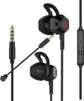 Mossmedia G100 - Gaming In-ear oordopjes met Microfoon - Zwart