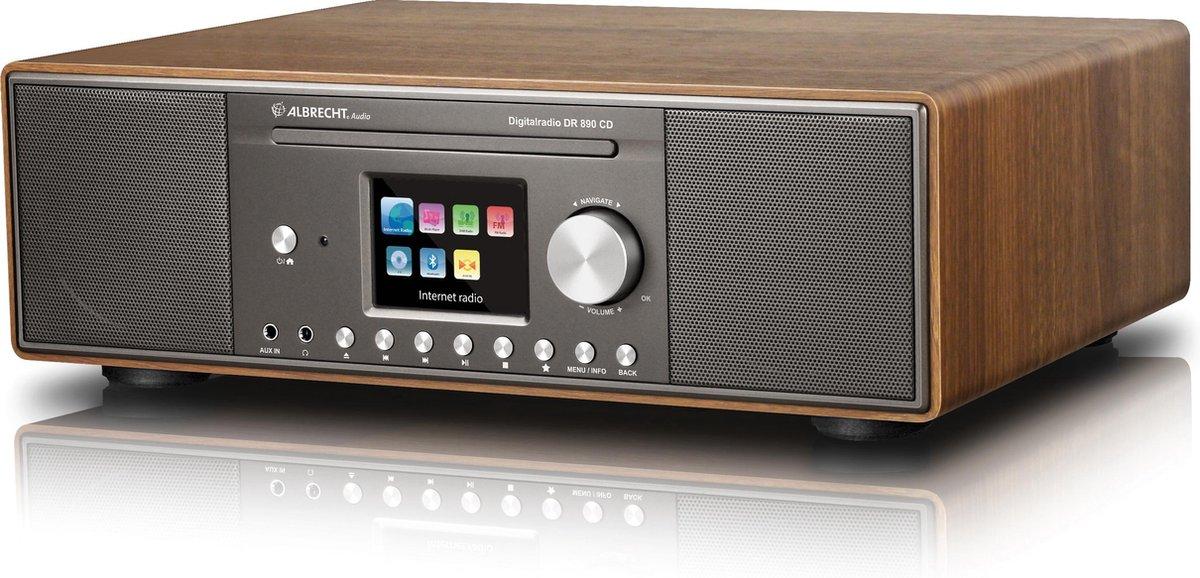 Albrecht DR 890 CD Hybride radio met DAB+, Internet en FM radio, kleuren scherm, Multiroom