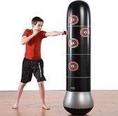 Opblaasbare bokszak - boksbal - bokspaal - bokszak staande - bokszak kinderen en volwassenen - 160 cm hoog - zwart