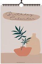 Verjaardagskalender - A4 - Stijlvol en Moderne Kalender - Baby Bunny