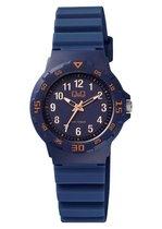 Q&Q kinder horloge VR19J018 donkerblauw waterdicht