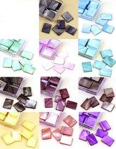 Mozaiek Steentjes Set - Veel Kleuren – 10 x 15mm - 350Steentjes