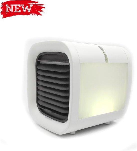 Mini Aircooler   Mini luchtkoeler   Alternatief voor mini airco of kleine airco   Wit   Coldine