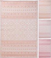 Buitenkleed - Vloerkleed - Buiten decoratie - Roze - 3 dessin