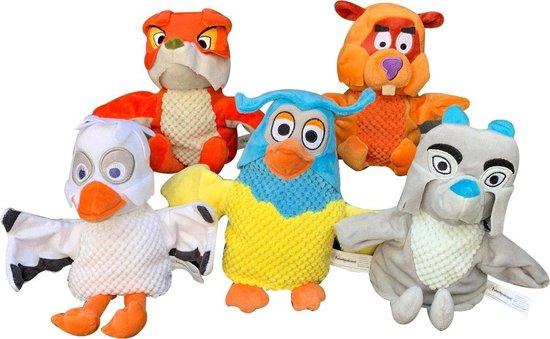 Pluche Fabeltjeskrant Ed/Willem Bever handpop knuffel 25 cm speelgoed - Fabeltjeskrant poppen - Bevers waterdieren knuffels - Poppentheater speelgoed kinderen