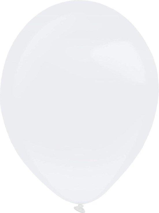 Amscan Ballonen 13 Cm Latex Metallic Wit 100 Stuks