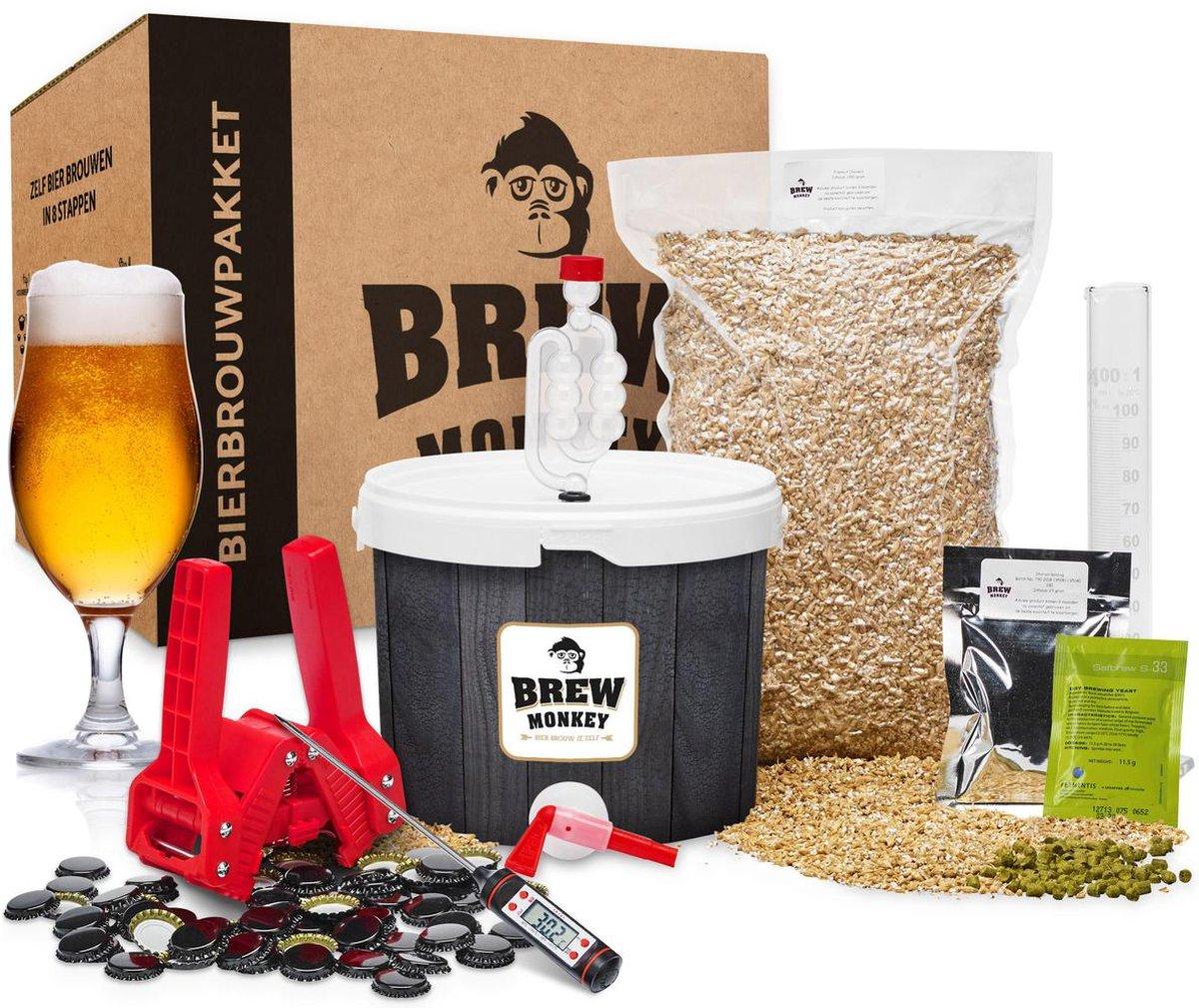 Brew Monkey Bierbrouwpakket - Compleet Blond bier - Brouwpakket