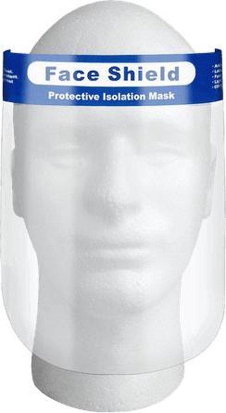 10 x Face Shield Gezichtscherm - Beschermkap voor gezicht - transparant