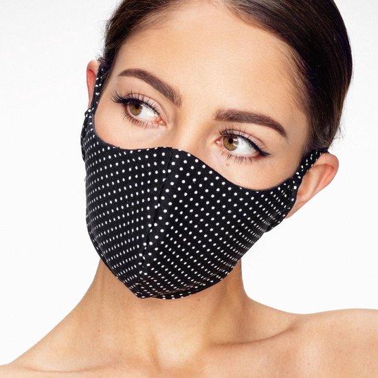 Wasbaar Mondkapje - Dots - Dubbellaags katoen - In EU gemaakt - Mondmasker