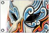 Tuinposter –Masker – 40x30 Foto op Tuinposter (wanddecoratie voor buiten en binnen)