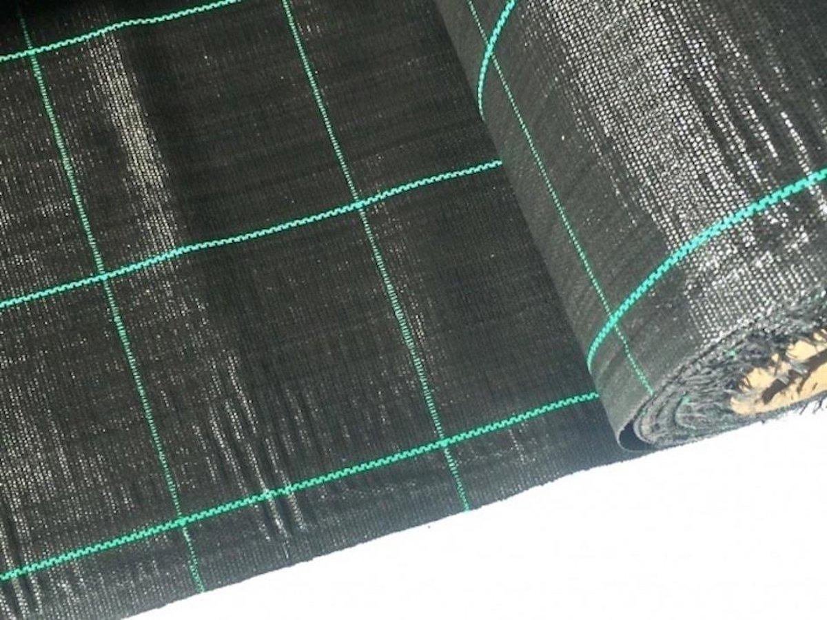Gronddoek - Worteldoek 5,25M breed x 10M lang; 52,5M² + 50 GRATIS gronddoekpennen. Gronddoek = Europ