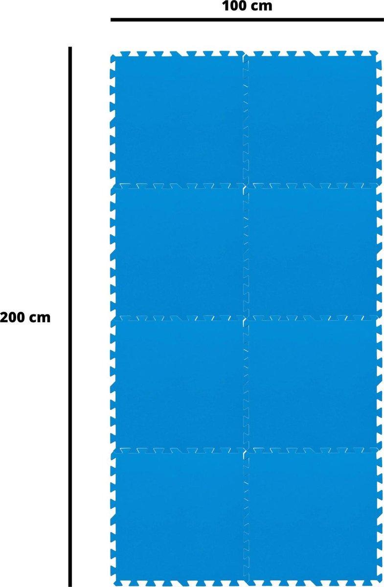 Bestway - zwembad looppad tegels - 50 cm x 50 cm - 2 m2 - blauw - 8 stuks