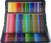 Kleurpotloden set 120 stuks | Professionele tekenset | Art set | Professionele kwaliteit Qili Met metalen Showcase