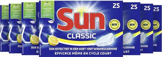 Sun Classic Citroen Vaatwastabletten - 7 x 25 tabletten - Voordeelverpakking