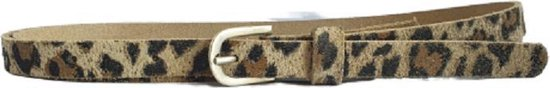 Leren Smalle Riem – Panter White of Suède – 1,5 cm breed – maat 105