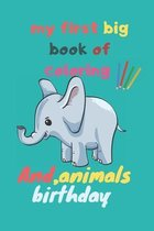 my first big book of coloring animals birthday: My First Toddler Coloring Book