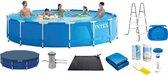 Intex zwembad rond - Metal Frame Pool 457x84cm - compleet pakket - inclusief filterpomp