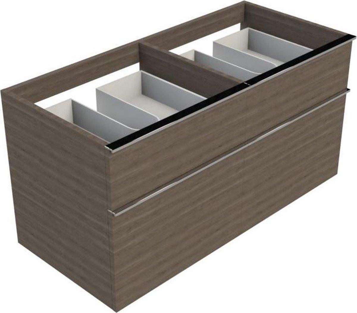 Sub 116 wastafelonderkast 120 cm met 4 laden, grijs eiken 50